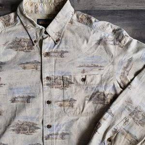 Woolrich Long Sleeve Corduroy Button Up Shirt